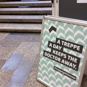 #treppegehtimmer – Poster