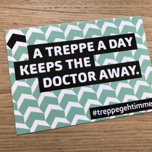 #treppegehtimmer – Postkarte