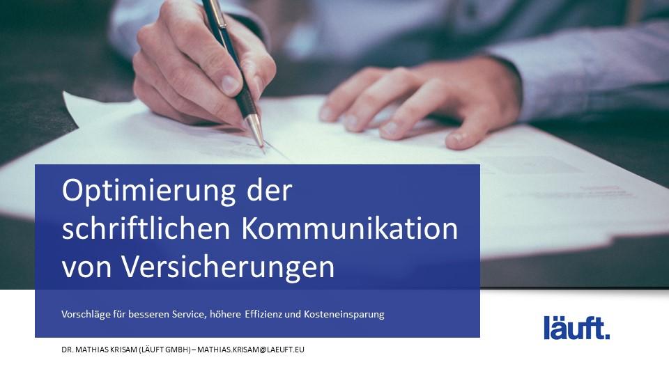 Schriftliche Kommunikation_läuft